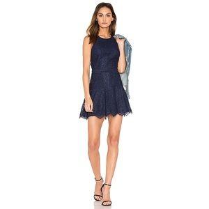NWT JOIE Adisa Navy Lace Sleeveless Mini Dress